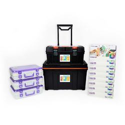 littleBits - 8 X Code Kit Education Steam Class Pack + 3 X Storage Box - Suits 24 Students 2770000042475