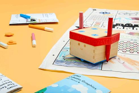 Primo Cubetto - Code & Colour Pack - Book, Washable Map & Pens 659436135093