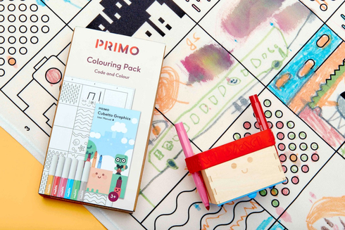 Primo Cubetto - Code & Colour Pack - Book, Washable Map & Pens 659436135093