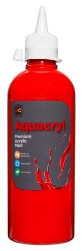 Aquacryl Paint 500ml Warm Red 9314289001308