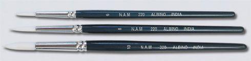 Brush Taklon Size 6 NAM Albino 220 B22006