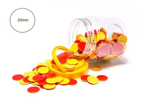 Counters Red and Yellow Jar of 200 9314289014131
