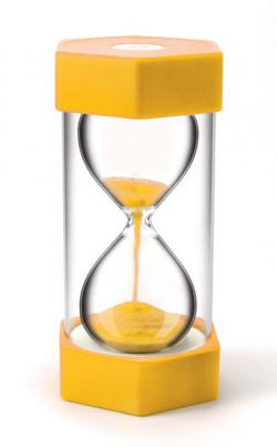 giant 3 minute yellow sand timer harleys the educational super store