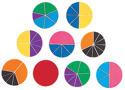 Deluxe Rainbow Fraction Circles 765023005882