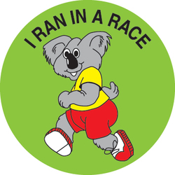 Stickers - I Ran In A Race Koala - Pk 100  MAG003