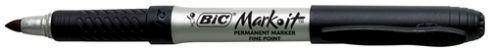Permanent Marker Fine Black - eg Bic 'Mark It' (Writes on All Surfaces) 9310025150170