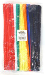 Pipe Cleaners Pk 100  (Pack of 100, Assorted Colours, 30cm) 9314812105664