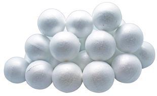 Polystyrene Balls Pk 25 60mm (Pack of 25, 60mm) 9314812105428
