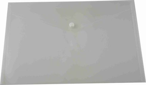 Document Wallet Plastic A3 Clear Osmer Button Closure 9313023361135