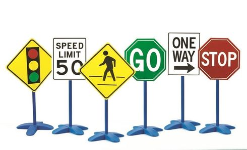 Traffic Signs Set of 6
