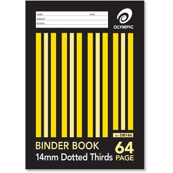 Binder Book A4 64 Page Olympic Stripe 14mm Dotted Thirds Stapled [DB146i] 9310029050643