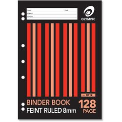 Binder Book A4 128 Page Olympic Stripe 8mm Feint Rule Stapled [B812] 9310353034432