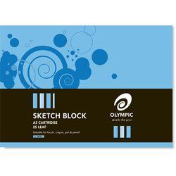 Sketch Block A2 25 Leaf Olympic 110gsm Cartridge Paper [SK50] 9310353090230