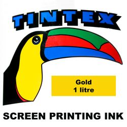Screen Printing Ink 1L Gold Tintex 9316960602088