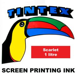 Screen Printing Ink 1L Scarlet Tintex 9316960602156