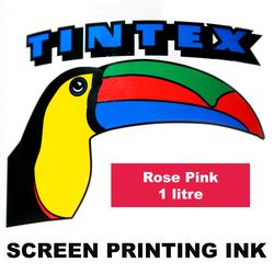 Screen Printing Ink 1L Rose Pink Tintex 9316960602262