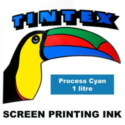 Screen Printing Ink 1L Process Cyan Tintex 9316960602613