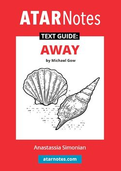ATAR Notes Text Guide: Away by Michael Gow