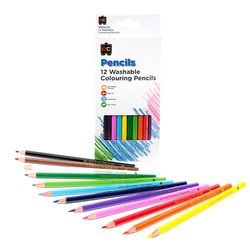 Colour Pencils Washable Pk 12 9314289008246
