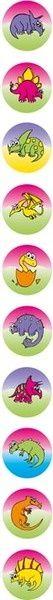 Stickers Dynamic Dots - Dinosaur - Pk 800 DD402