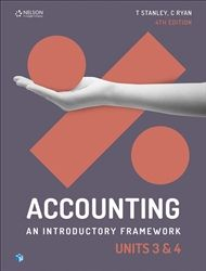 Accounting: An Introductory Framework Units 3 & 4 Student Book 9780170401890