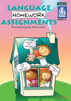 Language Homework Assignments Level 4 Ages 8 - 9 9781863115490