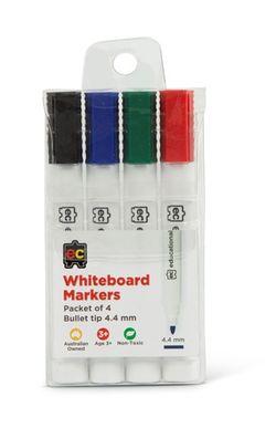 Whiteboard Marker Pk 4 Bullet Asst Cols 9314289032081