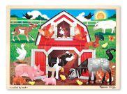 Barnyard Buddies Wooden Jigsaw Puzzle 24pc MND9061