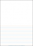 A4 Lined Paper Half Page Year 1 Rule - Pack of 250 9781920977016