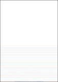 A4 Lined Paper Half Page Year 2 Rule - Pack of 250 9781920977023