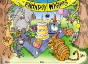 Certificates - Birthday Wishes - Pk 35 BC385