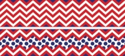 Chevron Red Double-Sided Border 2770009238664