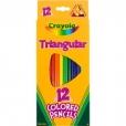 Crayola Triangular Colour Pencils (Pack of 12) 071662142148