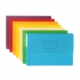 Slimpick Manilla Document Wallets (Assorted Colours, Pack of 10) 9312311400693
