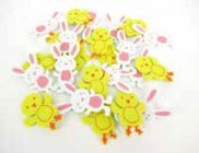 Foam Shapes Easter Assorted Pk 215 9320325024811