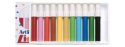 Felt Pens Liquid Crayon Colouring Markers Bullet 2mm Artline 300  (Pack of 12, Assorted Colours, Bullet) 4974052813368