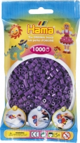 Hama Beads Solid Colours (Purple, Pack of 1000) 028178207076