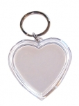 Key Tags Pk 10 Heart Clear 50mm 9320325518105