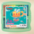 Oil Pastels in Hard Plastic Case (Pack of 24) (Pack of 24) 4711577019260