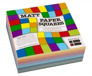 Paper Squares 127mm (Assorted Colours, Pack of 360, Matt) 9310703801301