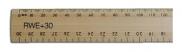Ruler Wooden 30cm with cm & mm Graduations (30cm) WRULER