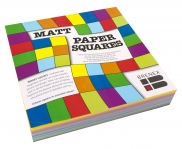 Single Sided Paper Squares (Assorted Colours, 254mm, Pack of 360, Matt) 9310703800502