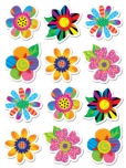 Spring Flowers Shape Stickers 2770009236868