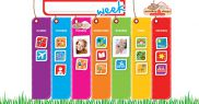 Weekly Activity Planner Magnetic Chart WAP001