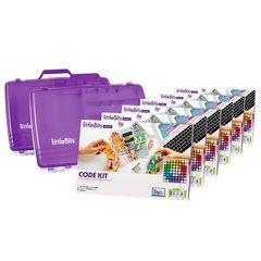 littleBits - 6 X Code Kit Education Class Pack + 2 X Storage Box - Suits 18 Students 810876022590