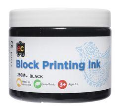 Block Printing 250ml Black 9314289001940