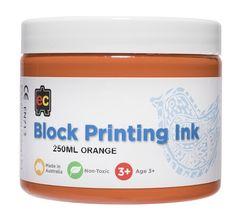 Block Printing 250ml Orange 9314289002008