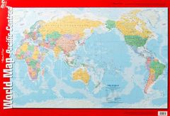 Chart World Map Pacific Centred Double Sided  9781920926755