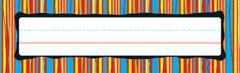Name Plates - Colourful Stripes - Pk 36 CD122008