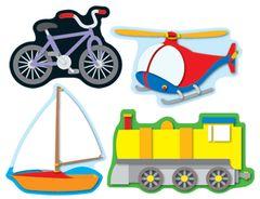 Stickers - Transportation - Pk 84  CD168027